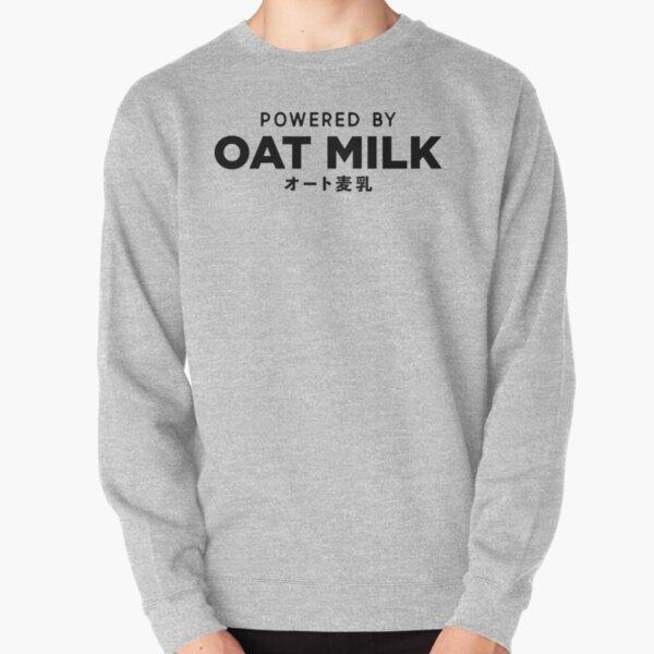 Powered By Oat Milk | Vegan | Non-Dairy Milk | Oatmilk | Vegetarian Pullover Sweatshirt
