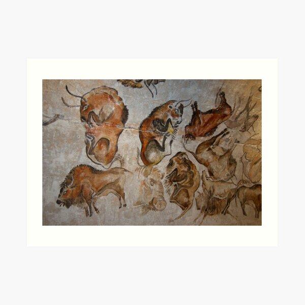 Altamira Bisons. Altamira cave paintings Art Print