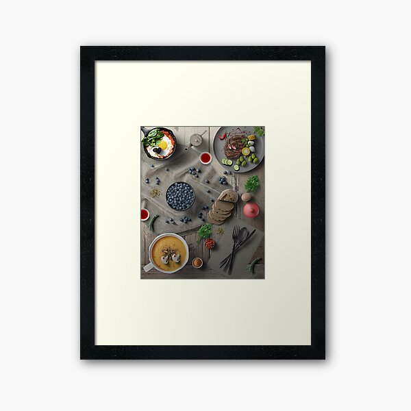 Mighty Delicious Dinner For One Framed Art Print