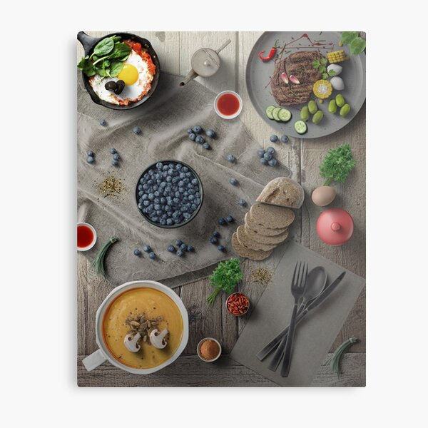 Mighty Delicious Dinner For One Metal Print