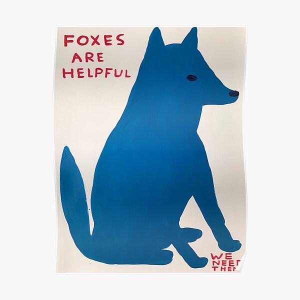 Füchse Davids sind hilfreich Poster