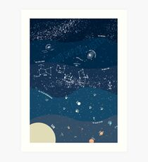 Scale of the Universe - Space Poster Art Print