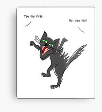 Angry Cat: You try again T-shirt Metal Print