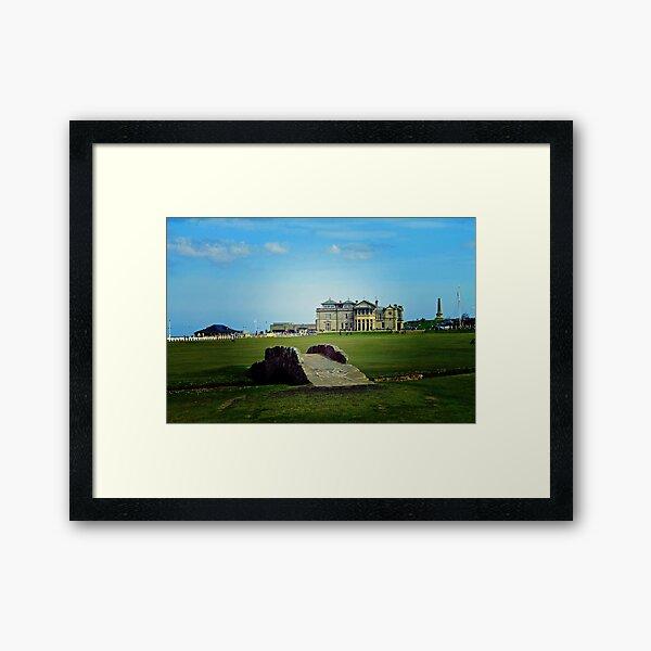 The Swilcan Bridge, Old Course, St Andrews, Scotland Framed Art Print