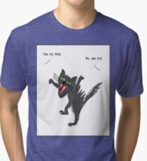 Angry Cat: You try again T-shirt Tri-blend T-Shirt