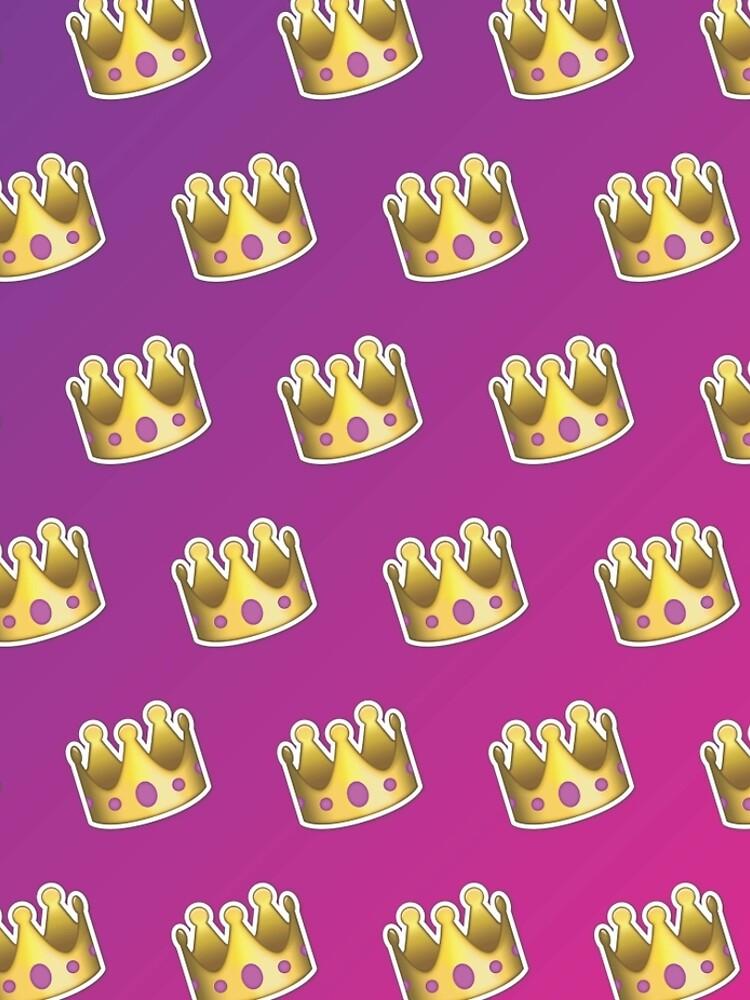 Crown Emoji Pattern Pink and Purple by llier4