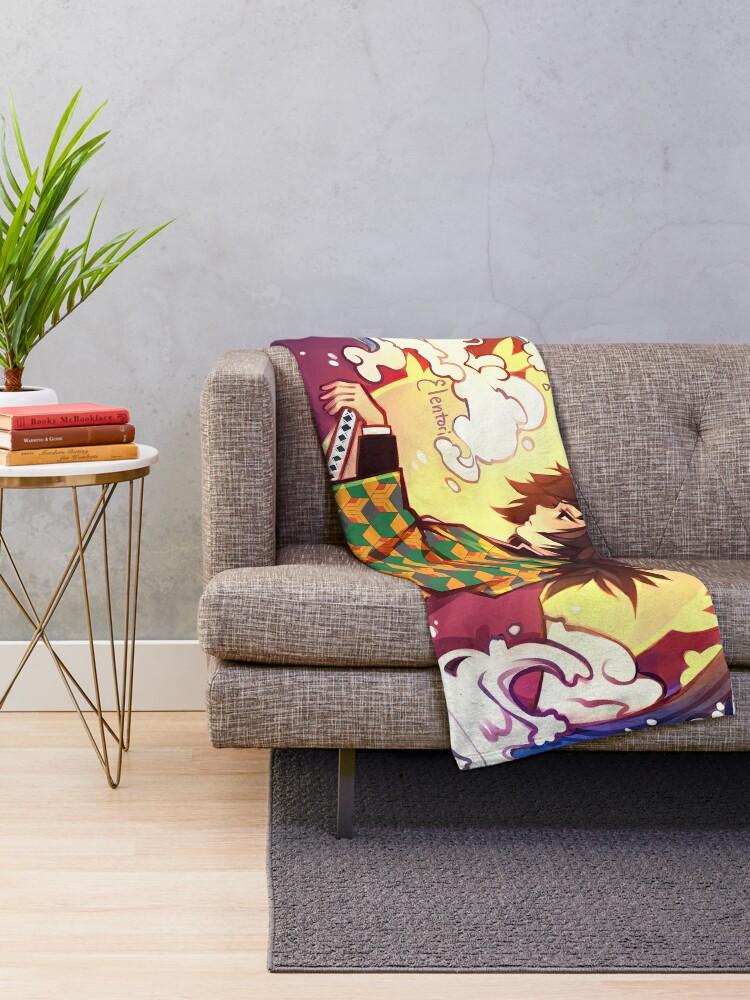 Alternate view of Giyuu Throw Blanket