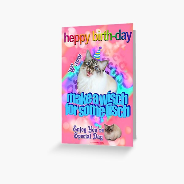 Primcess Pamcake - Heppy Birth-Day Make A Wisch For Some Fisch (Birthday Card For All Occasions) Greeting Card