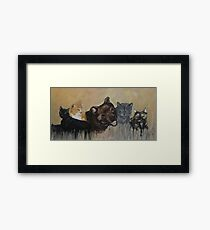 Furry Family Framed Print