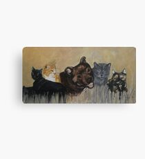 Furry Family Canvas Print