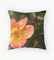 peach flower Throw Pillow