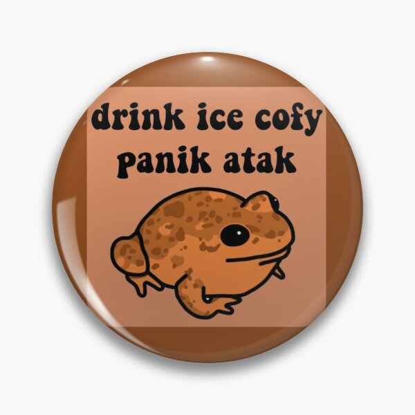 Drink Ice Cofy Frog Pin