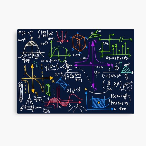Amazing Mathematics Canvas Print