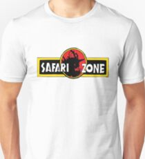 Safari zone pokemon jurassic park T-Shirt