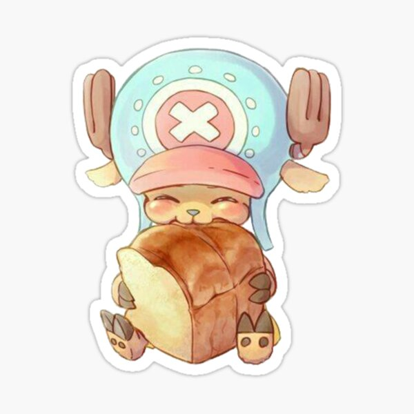 Super Kawaii Tony Tony Chopper manger de la brioche! Sticker