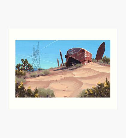 Mojave Metal III Art Print