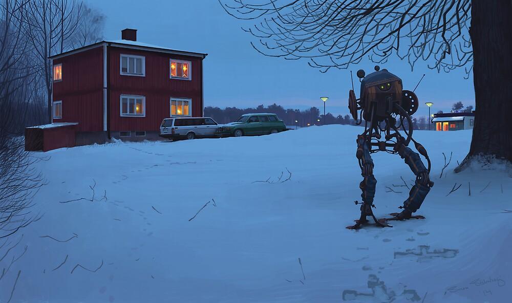 Ett Bedårande Barn Av Sin Tid by Simon Stålenhag
