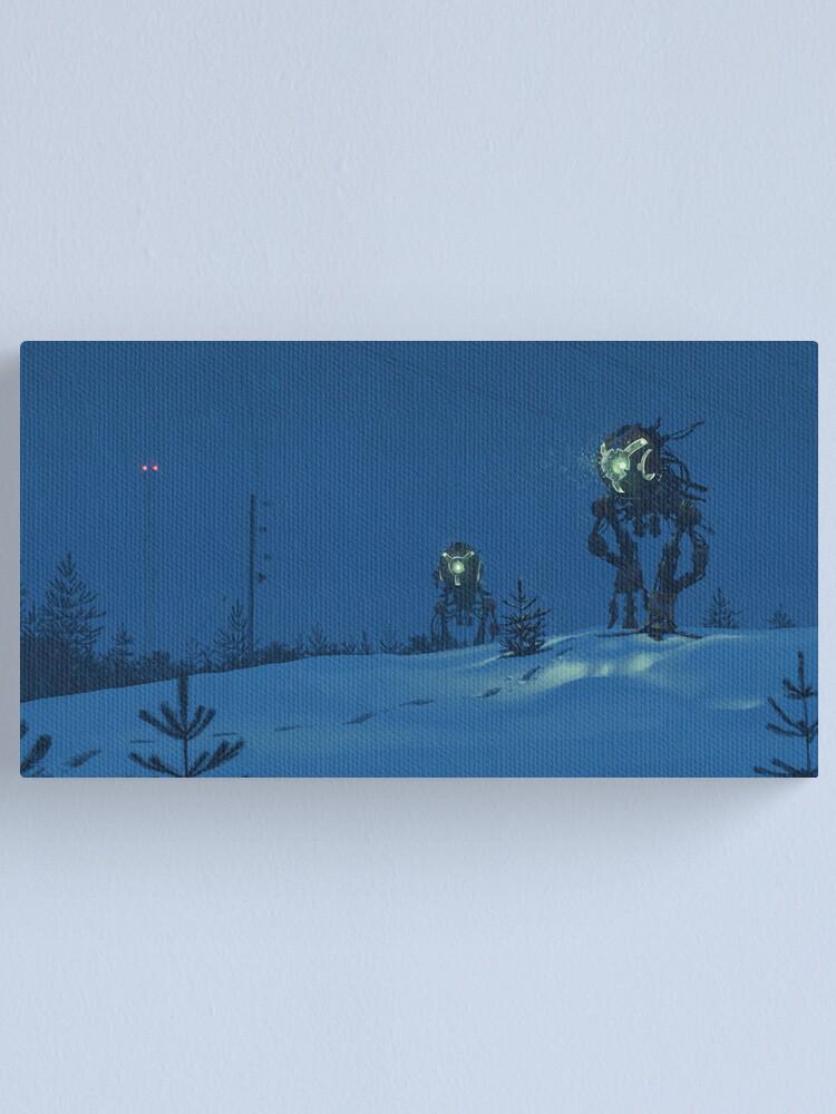 Alternate view of Nattens Röntgenplåt Canvas Print