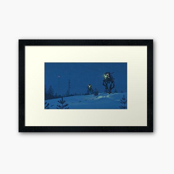 Nattens Röntgenplåt Framed Art Print