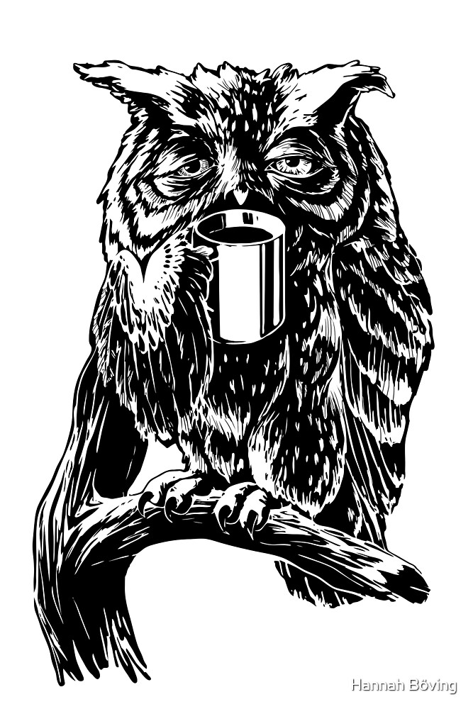 Coffee owl by Hannah Böving
