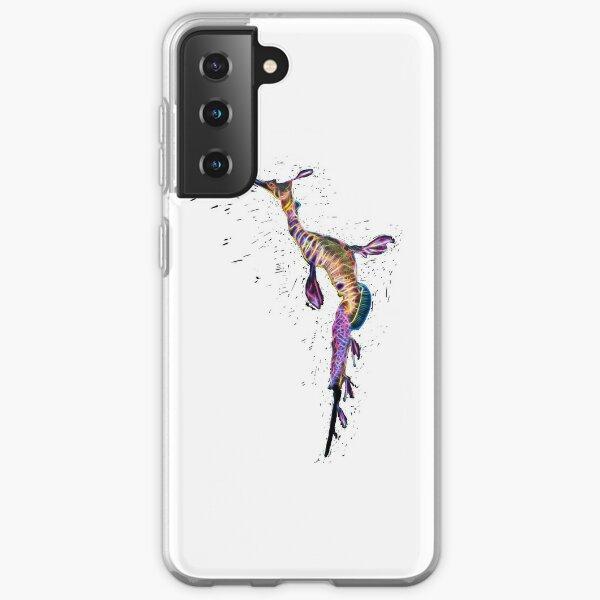 Weedy Seadragon Fractal Splatter Samsung Galaxy Soft Case
