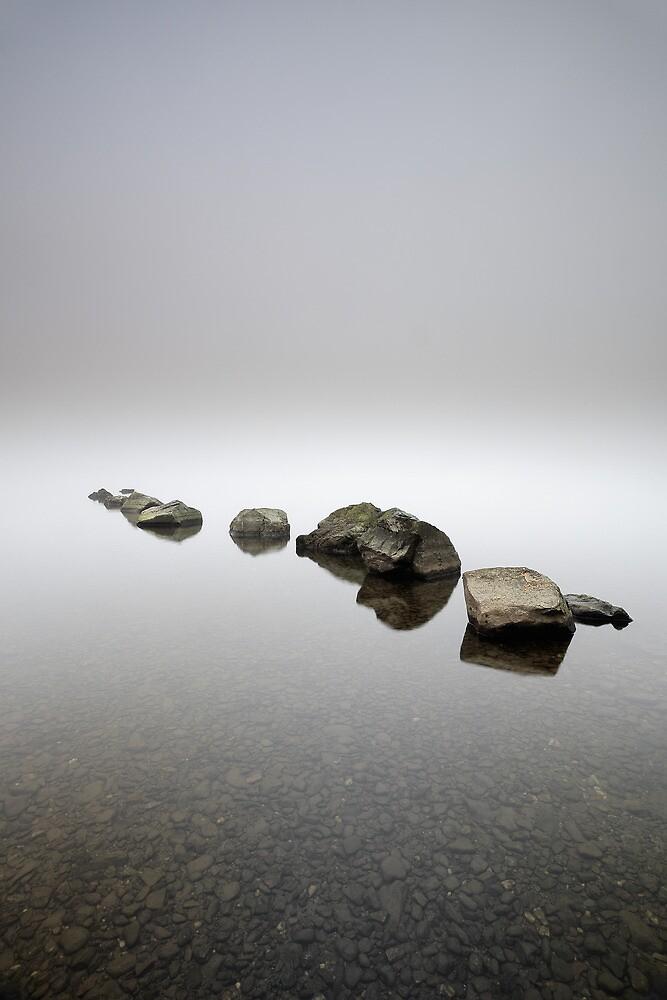 Rocks in the mist by Grant Glendinning