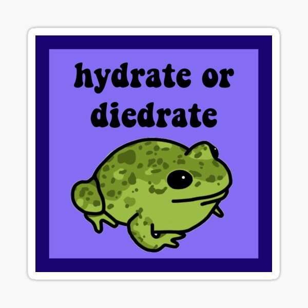 Hydrate Or Diedrate Frog Sticker