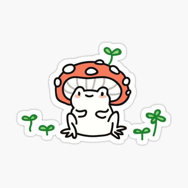 mushroom frog Sticker