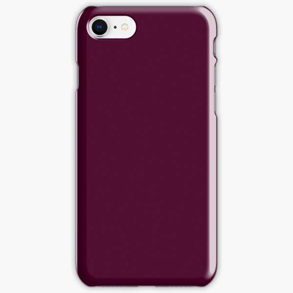 PURE COLOR-Burgundy iPhone Snap Case