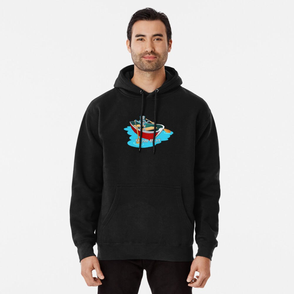 Row Bot. Pullover Hoodie