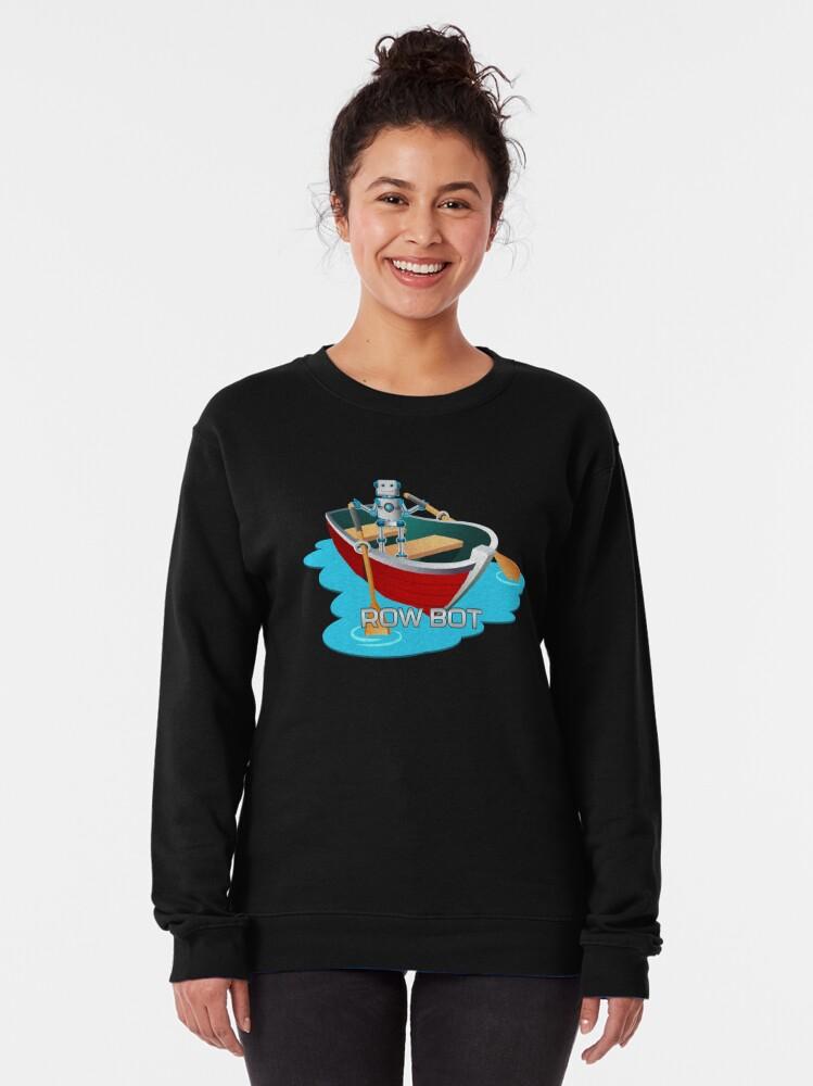 Alternate view of Row Bot. Pullover Sweatshirt