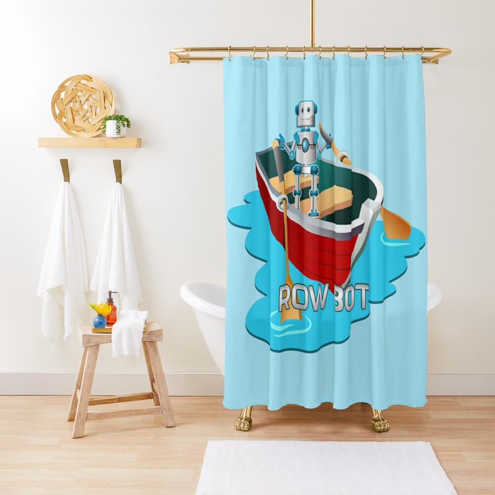 Row Bot. Shower Curtain
