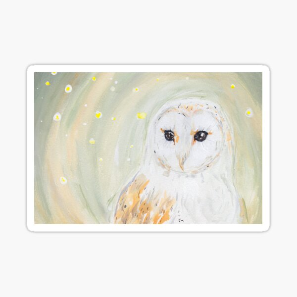 Firefly Barn Owl Sticker