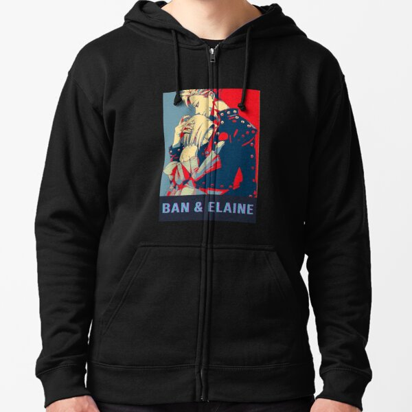 Ban and Elaine Seven Deadly Sins Zipped Hoodie