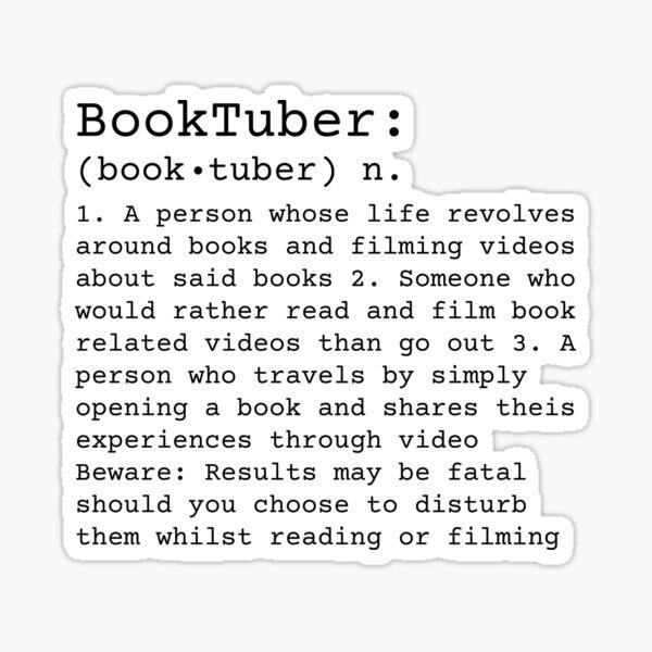 BookTuber Definition  Sticker
