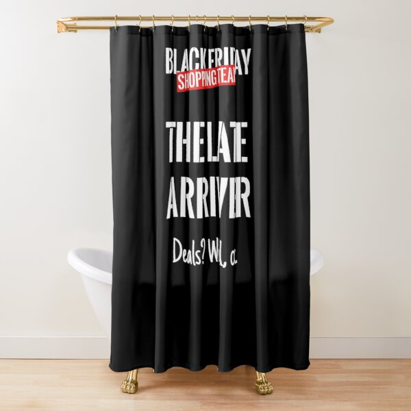 Black Friday Crew Shower Curtains Redbubble