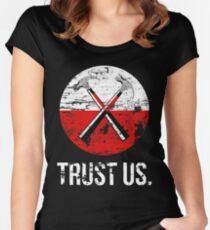 Pink Floyd TRUST US worn Women's Fitted Scoop T-Shirt