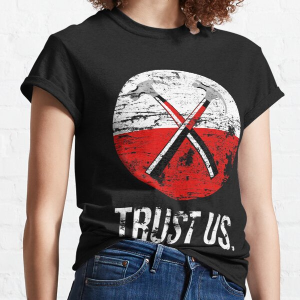 Pink Floyd TRUST US desgastado Camiseta clásica