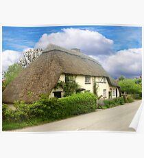 A Quaint Little Thatched Cottage Poster