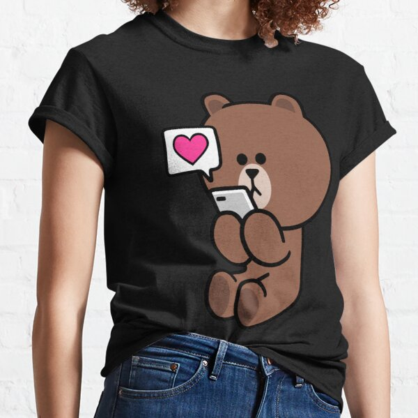 Brown Bear Cony Bunny Rabbit Te envía todo mi amor Camiseta clásica