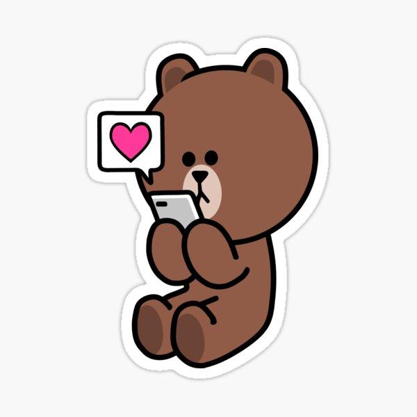 Braunbär Cony Bunny Rabbit Sende dir meine ganze Liebe Sticker