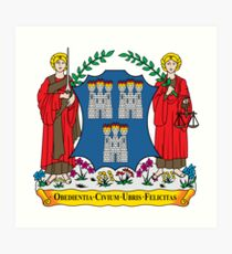 Coat of Arms of Dublin Art Print