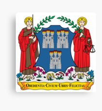 Coat of Arms of Dublin Canvas Print