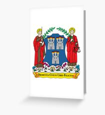 Coat of Arms of Dublin Greeting Card