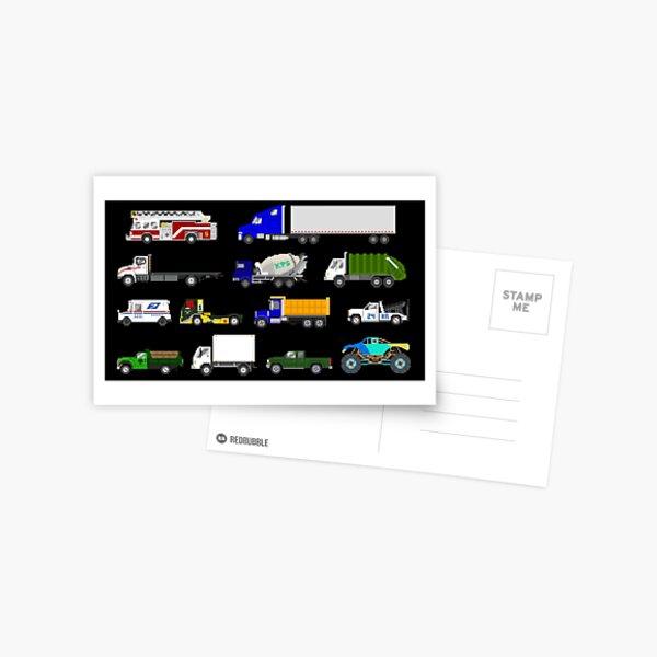 Trucks - The Kids' Picture Show Postcard