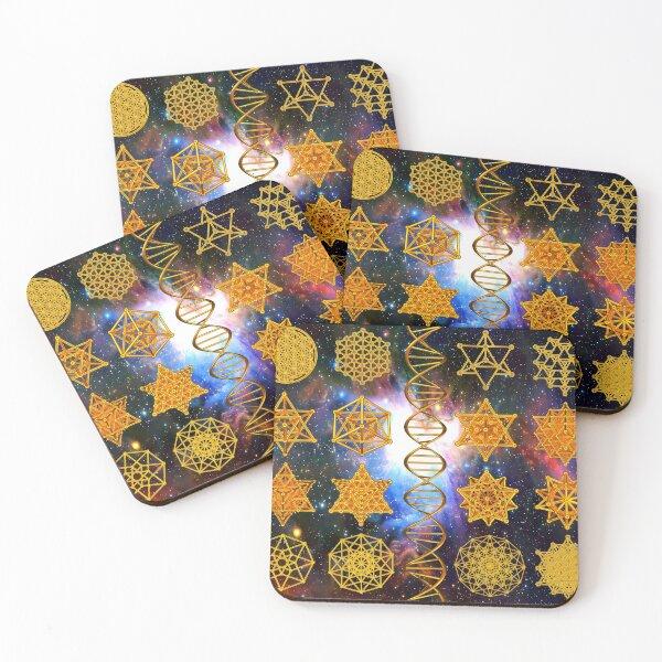 Sacred Geometry Coasters (Set of 4)