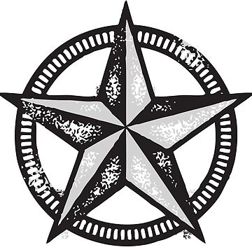 Texas Star with Circle by Bukowsky
