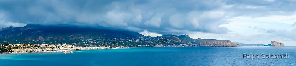 Clouds over the Costa Blanca panorama by Ralph Goldsmith