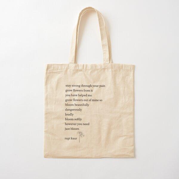 Rupi Kaur- Just Bloom Cotton Tote Bag