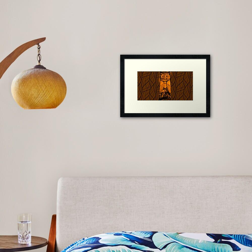 The Mysterious Owl-Fall Leaves Framed Art Print